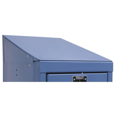 "Hallowell Slope Top End Closure-Lockers-12""D x 4""H-Marine Blue-"