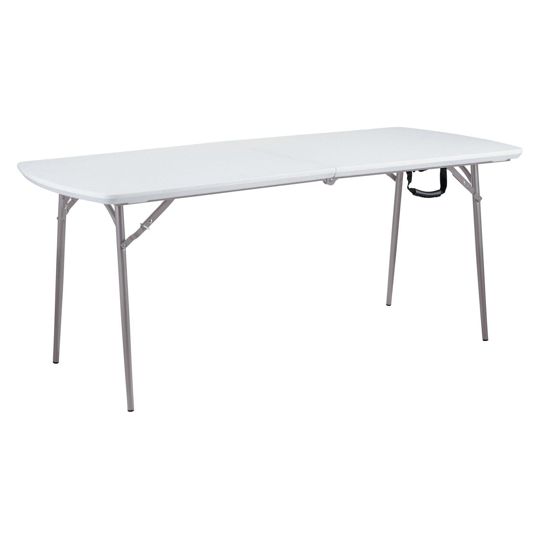 Heavy Duty Fold-in-Half Table, Speckled Grey-Tables-