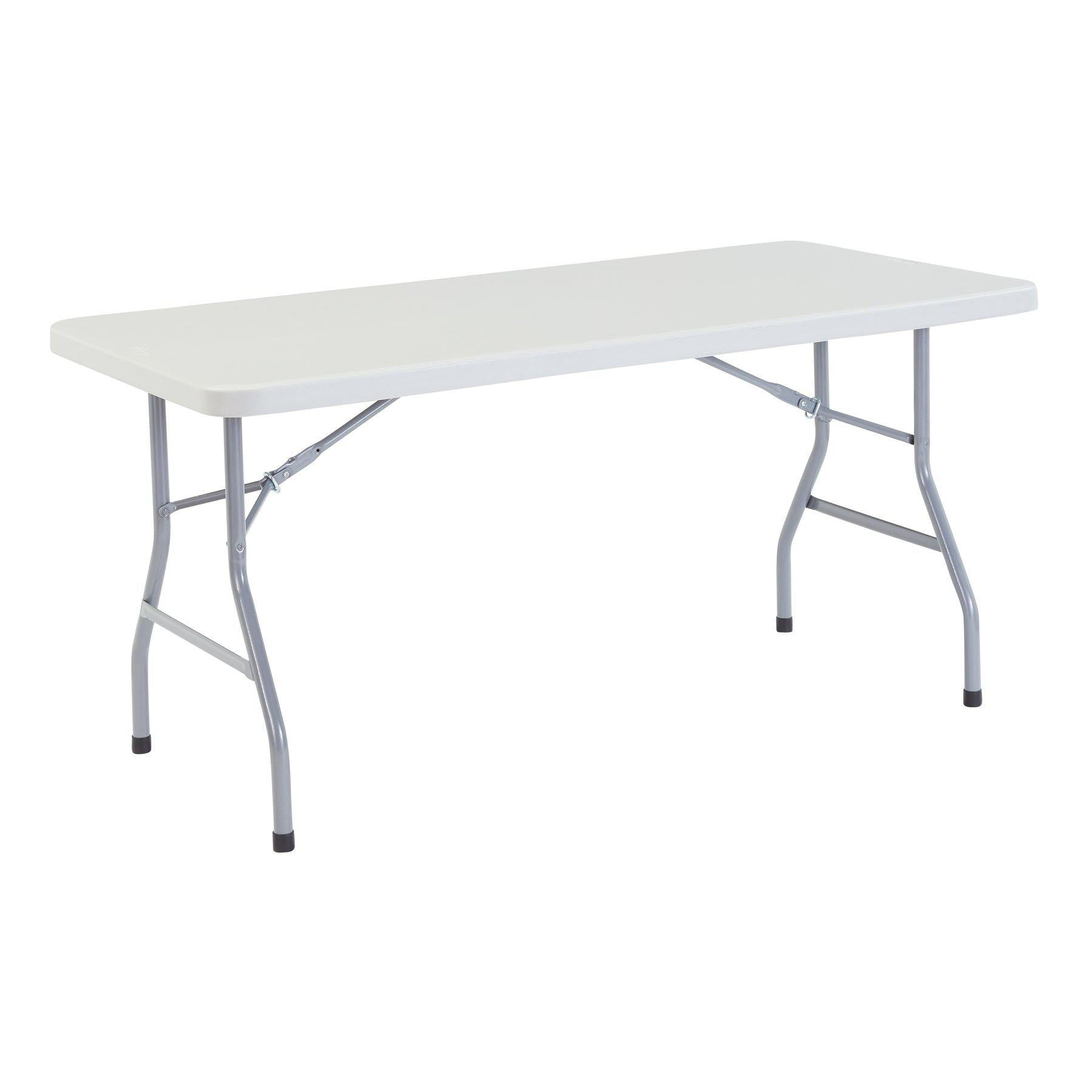 "Heavy Duty Folding Table, Speckled Gray-Tables-30"" x 60""-"