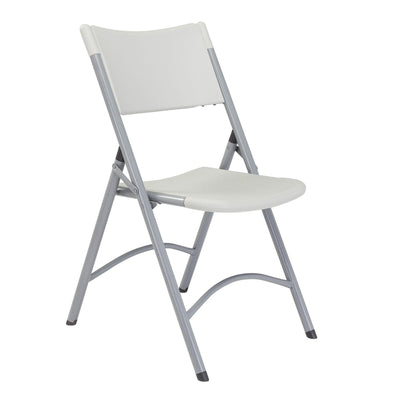 Heavy Duty Plastic Folding Chair (Carton of 4)-Chairs-Speckled Grey Plastic/Grey Textured Frame-