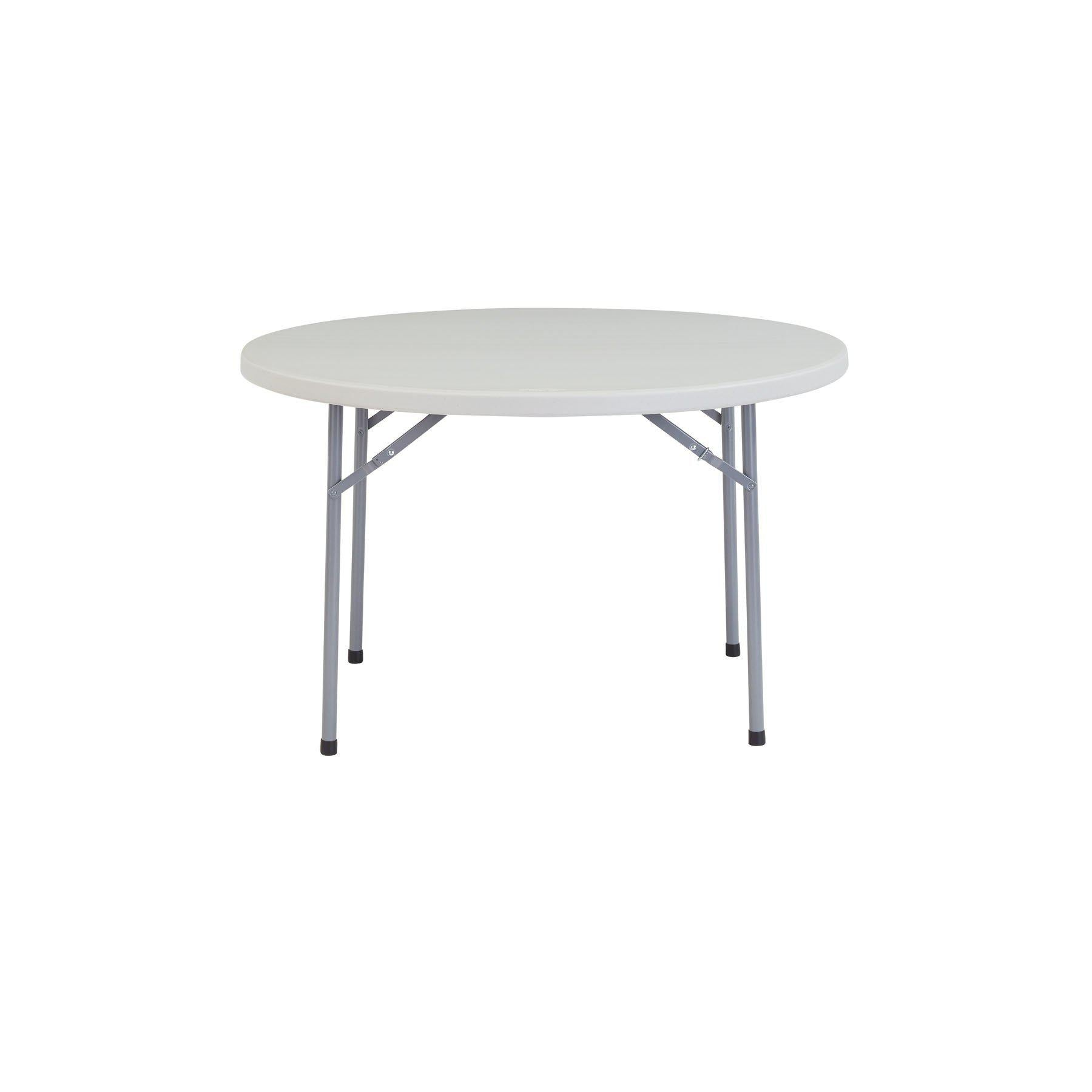 Heavy Duty Round Folding Table, Speckled Grey