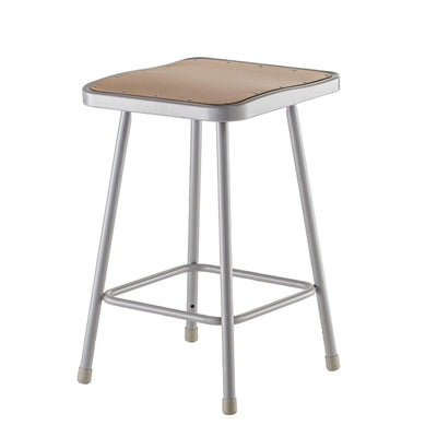 "Heavy Duty Square Seat Steel Stool, Grey-Stools-22""-"