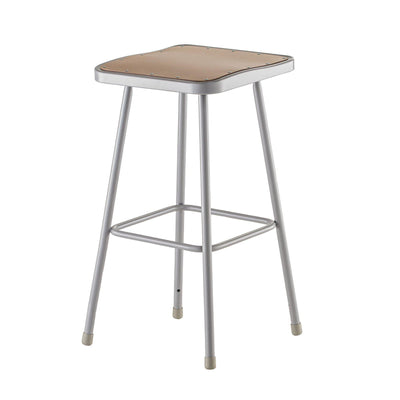 "Heavy Duty Square Seat Steel Stool, Grey-Stools-24""-"