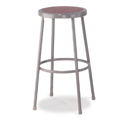 "Heavy Duty Steel Stool-Stools-24""-Grey-"
