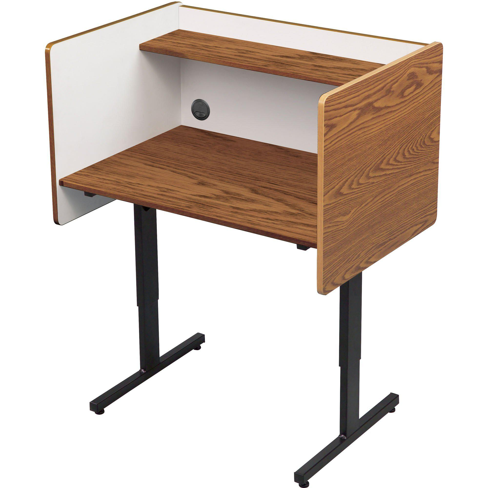 Height-Adjustable Heavy-Duty Study Carrel