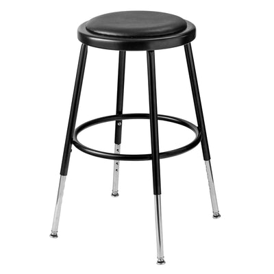 "Height Adjustable Heavy Duty Vinyl Padded Steel Stool-Stools-Black-19"" - 27""-"
