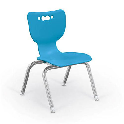 "Hierarchy 4-Leg School Chair, Chrome Frame, 5 Pack-Chairs-12""-Blue-"