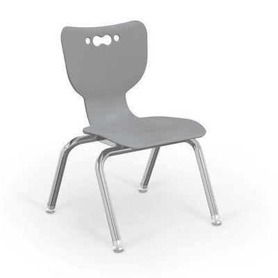 "Hierarchy 4-Leg School Chair, Chrome Frame, 5 Pack-Chairs-12""-Grey-"