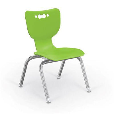 "Hierarchy 4-Leg School Chair, Chrome Frame, 5 Pack-Chairs-12""-Lime-"
