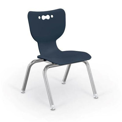 "Hierarchy 4-Leg School Chair, Chrome Frame, 5 Pack-Chairs-12""-Navy-"