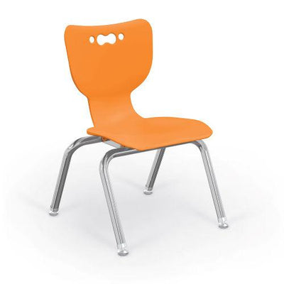 "Hierarchy 4-Leg School Chair, Chrome Frame, 5 Pack-Chairs-12""-Orange-"