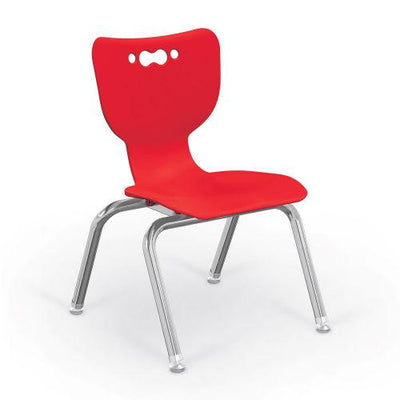 "Hierarchy 4-Leg School Chair, Chrome Frame, 5 Pack-Chairs-12""-Red-"
