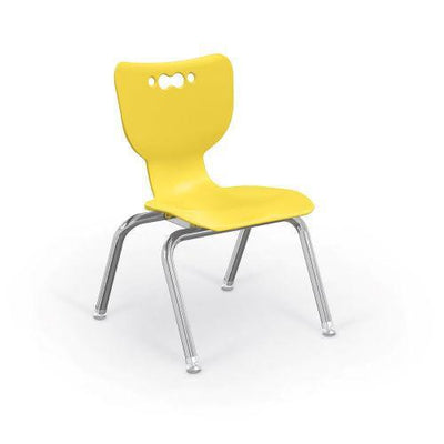 "Hierarchy 4-Leg School Chair, Chrome Frame, 5 Pack-Chairs-12""-Yellow-"