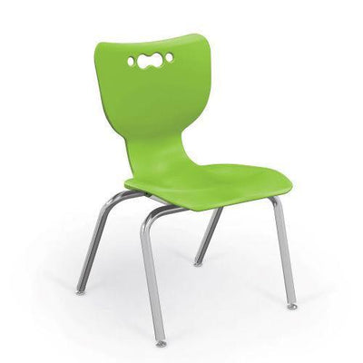 "Hierarchy 4-Leg School Chair, Chrome Frame, 5 Pack-Chairs-14""-Lime-"