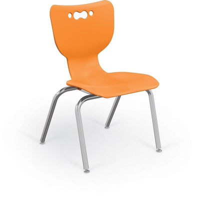"Hierarchy 4-Leg School Chair, Chrome Frame, 5 Pack-Chairs-14""-Orange-"