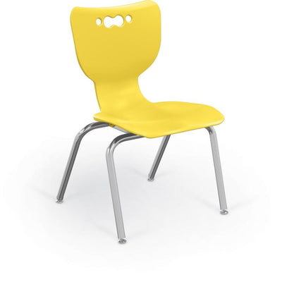 "Hierarchy 4-Leg School Chair, Chrome Frame, 5 Pack-Chairs-14""-Yellow-"