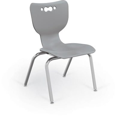 "Hierarchy 4-Leg School Chair, Chrome Frame, 5 Pack-Chairs-16""-Grey-"