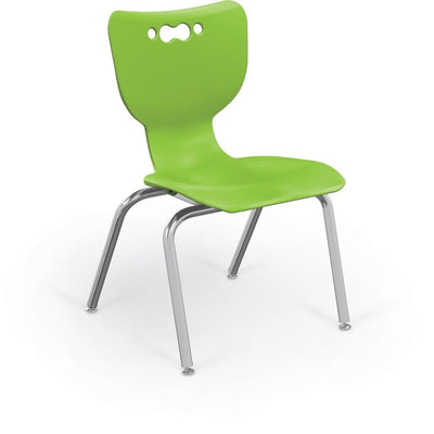 "Hierarchy 4-Leg School Chair, Chrome Frame, 5 Pack-Chairs-16""-Lime-"