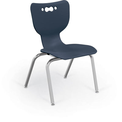 "Hierarchy 4-Leg School Chair, Chrome Frame, 5 Pack-Chairs-16""-Navy-"