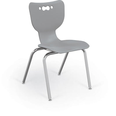 "Hierarchy 4-Leg School Chair, Chrome Frame, 5 Pack-Chairs-18""-Grey-"