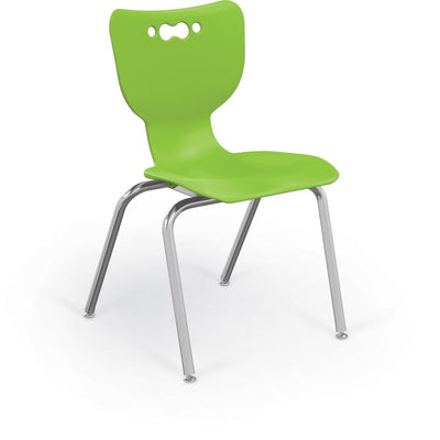 "Hierarchy 4-Leg School Chair, Chrome Frame, 5 Pack-Chairs-18""-Lime-"
