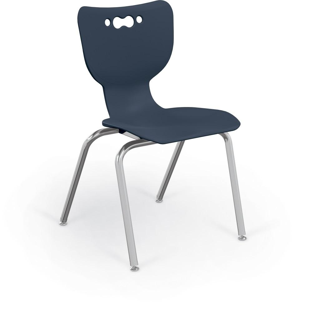 "Hierarchy 4-Leg School Chair, Chrome Frame, 5 Pack-Chairs-18""-Navy-"