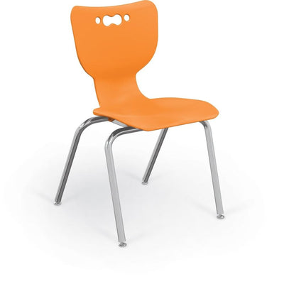 "Hierarchy 4-Leg School Chair, Chrome Frame, 5 Pack-Chairs-18""-Orange-"