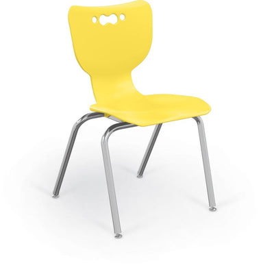 "Hierarchy 4-Leg School Chair, Chrome Frame, 5 Pack-Chairs-18""-Yellow-"