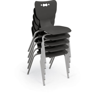 Hierarchy 4-Leg School Chair, Chrome Frame, 5 Pack-Chairs-