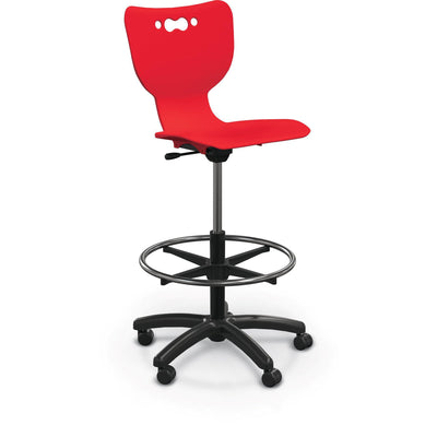 Hierarchy 5-Star Stool-Stools-Red-