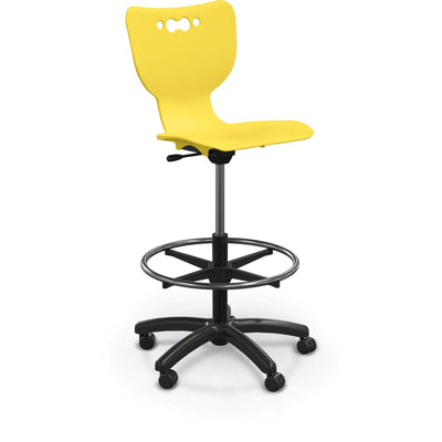 Hierarchy 5-Star Stool-Stools-Yellow-