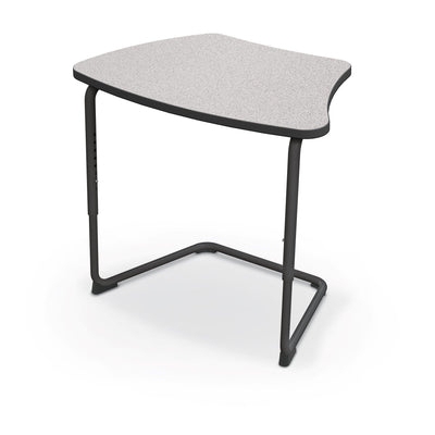 Hierarchy Adjustable Cantilever Desk-Desks-Curve Top-Grey Nebula-Black
