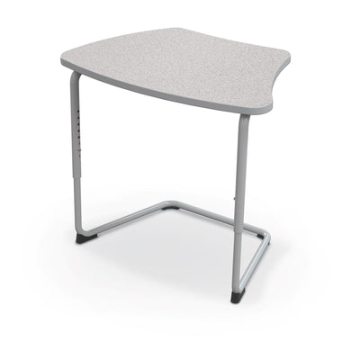 Hierarchy Adjustable Cantilever Desk-Desks-Curve Top-Grey Nebula-Platinum