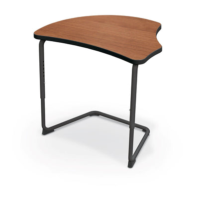 Hierarchy Adjustable Cantilever Desk-Desks-Harmony Top-Amber Cherry-Black