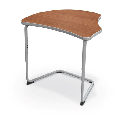 Hierarchy Adjustable Cantilever Desk-Desks-Harmony Top-Amber Cherry-Platinum