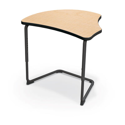 Hierarchy Adjustable Cantilever Desk-Desks-Harmony Top-Fusion Maple-Black