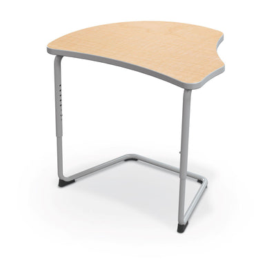 Hierarchy Adjustable Cantilever Desk-Desks-Harmony Top-Fusion Maple-Platinum