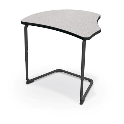 Hierarchy Adjustable Cantilever Desk-Desks-Harmony Top-Grey Nebula-Black