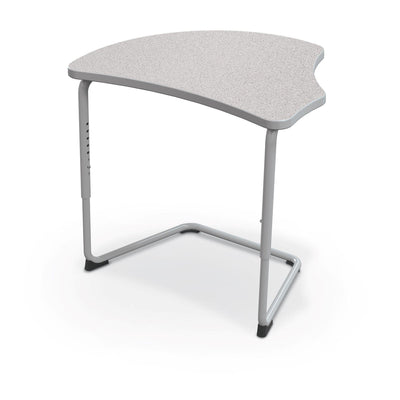 Hierarchy Adjustable Cantilever Desk-Desks-Harmony Top-Grey Nebula-Platinum
