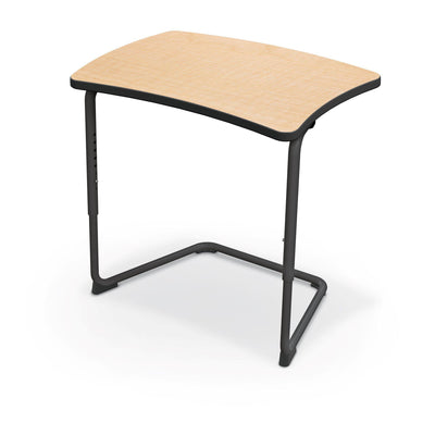 Hierarchy Adjustable Cantilever Desk-Desks-Straight Top-Fusion Maple-Black