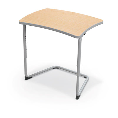Hierarchy Adjustable Cantilever Desk-Desks-Straight Top-Fusion Maple-Platinum