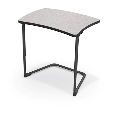 Hierarchy Adjustable Cantilever Desk-Desks-Straight Top-Grey Nebula-Black