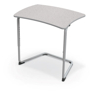 Hierarchy Adjustable Cantilever Desk-Desks-Straight Top-Grey Nebula-Platinum
