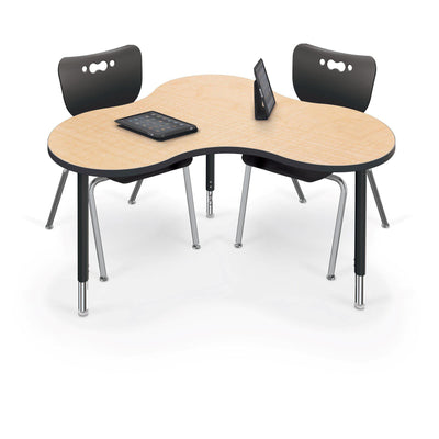 Hierarchy Cloud 9 Desk and Table-School Furniture-Large-Fusion Maple with Black Edgeband-