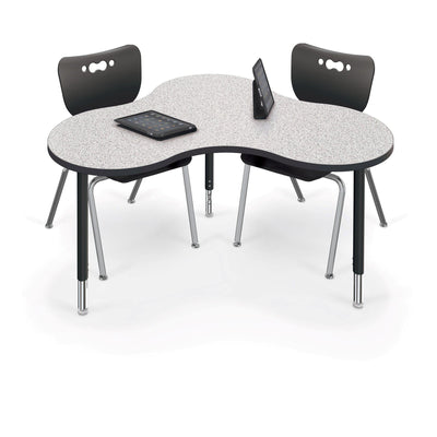 Hierarchy Cloud 9 Desk and Table-School Furniture-Large-Grey Nebula with Black Edgeband-