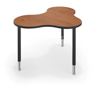 Hierarchy Cloud 9 Desk and Table-School Furniture-Medium-Amber Cherry with Black Edgeband-