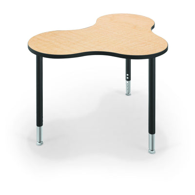 Hierarchy Cloud 9 Desk and Table-School Furniture-Medium-Fusion Maple with Black Edgeband-