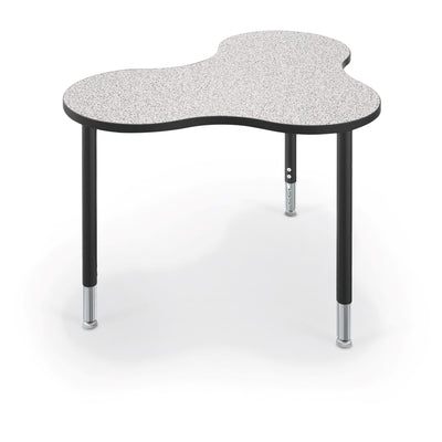 Hierarchy Cloud 9 Desk and Table-School Furniture-Medium-Grey Nebula with Black Edgeband-