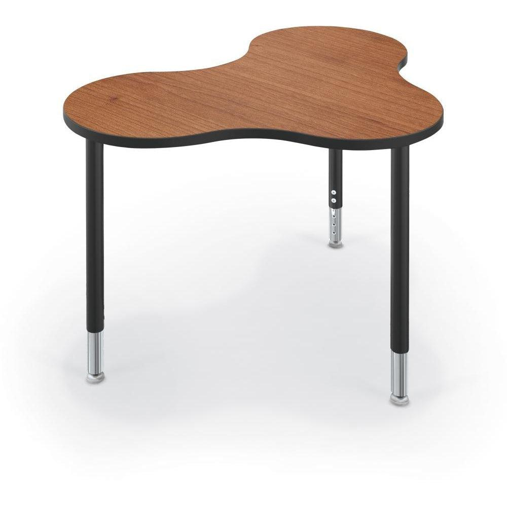 Hierarchy Cloud 9 Desk and Table-School Furniture-Small-Amber Cherry with Black Edgeband-