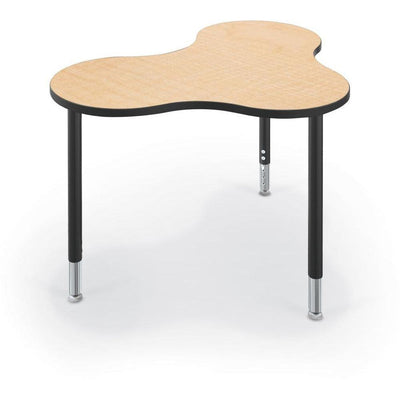 Hierarchy Cloud 9 Desk and Table-School Furniture-Small-Fusion Maple with Black Edgeband-
